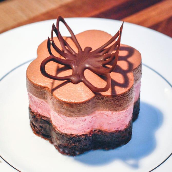 Nytårsdessert med chokolademousse