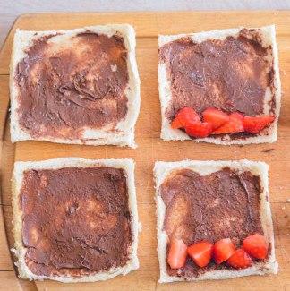 Nutella og jordbær toast