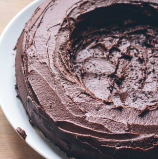 Chokoladekage glasur
