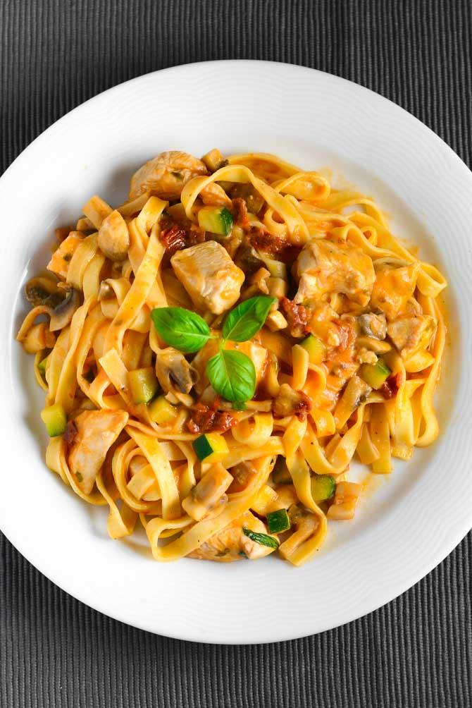 Frisk pasta med kylling