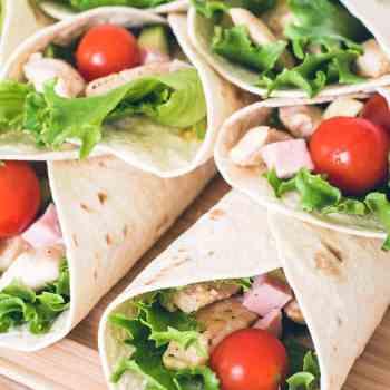 Club sandwich wraps fra Bageglad