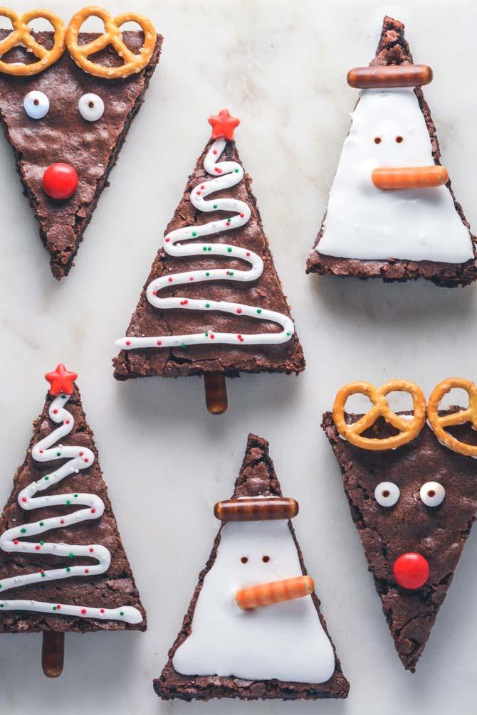 Julebrownies opskrift fra Bageglad