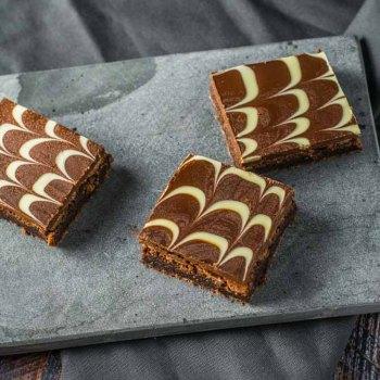 Brownies med glasur