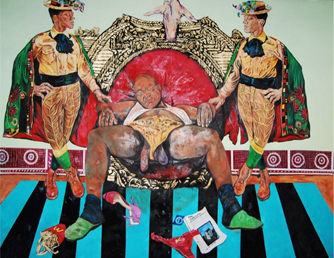 """Zuma, the Prostitute"" Mixed Media on canvas, 2016"