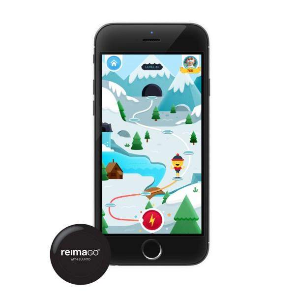 ReimaGO sensor mäter barnets fysiska aktivitet med app
