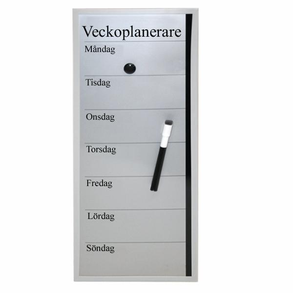 Planeringstavla magnettavla veckoplan med penna