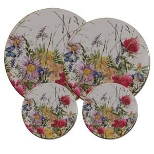 Spislock 4 st i shabby chic stil vilda blommor