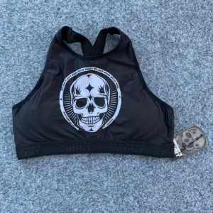 Northern spirit träningsbh läcker design strl L - Black Skull