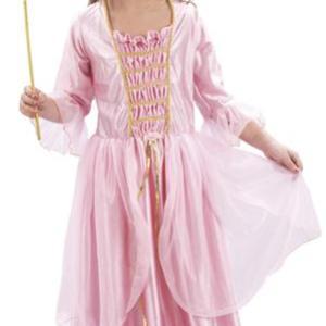 Maskeraddräkt prinsessa rosa strl 92-104