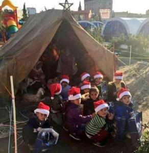 Assyrian Christians in Iraq celebrating Christmas 2014