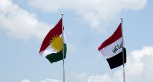 Iraq and Kurdistan Flags