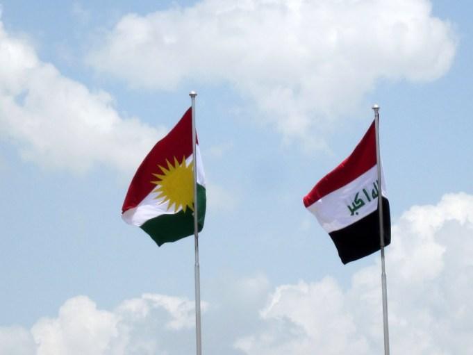 Iraq and Kurdistan Flags