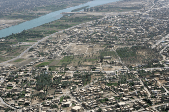 Aerial view of Ramadi back in 2008.