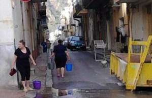 In alcune zone di Aspra l'acqua manca da più di un mese