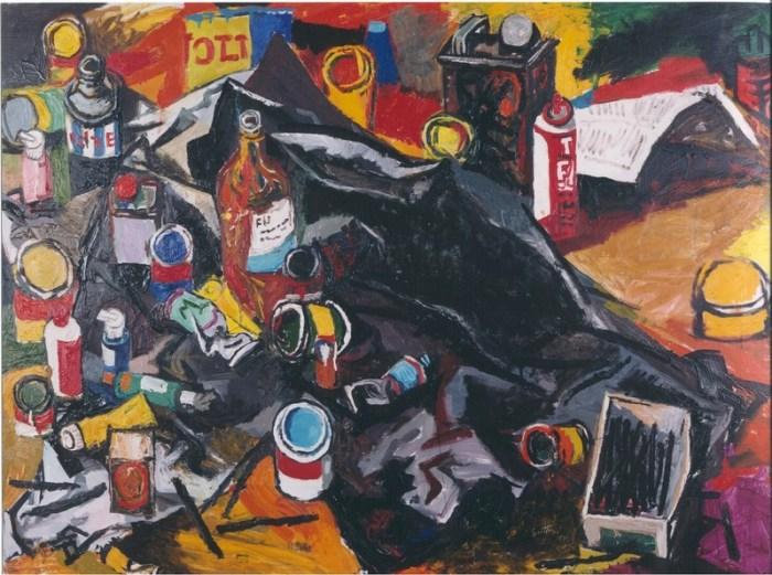 renato-guttuso-lo-studio-dellartista-1963-galleria-de-bonis-1