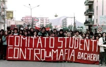 Studenti di Bagheria alla prima marcia antimafia Bagheria-Casteldaccia del 26 febbraio 1983
