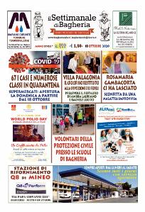 Copertina del Settimanale di Bagheria n.ro 899  del 18 Ottobre 2020