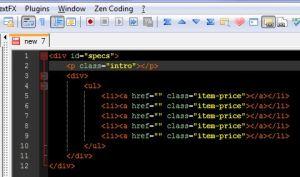 zen-coding-notepad++ html