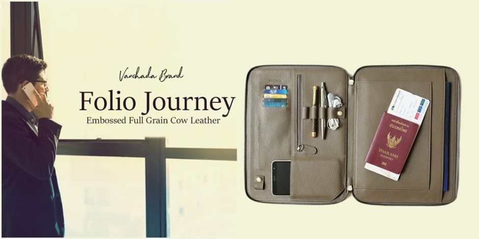 folio leather for business