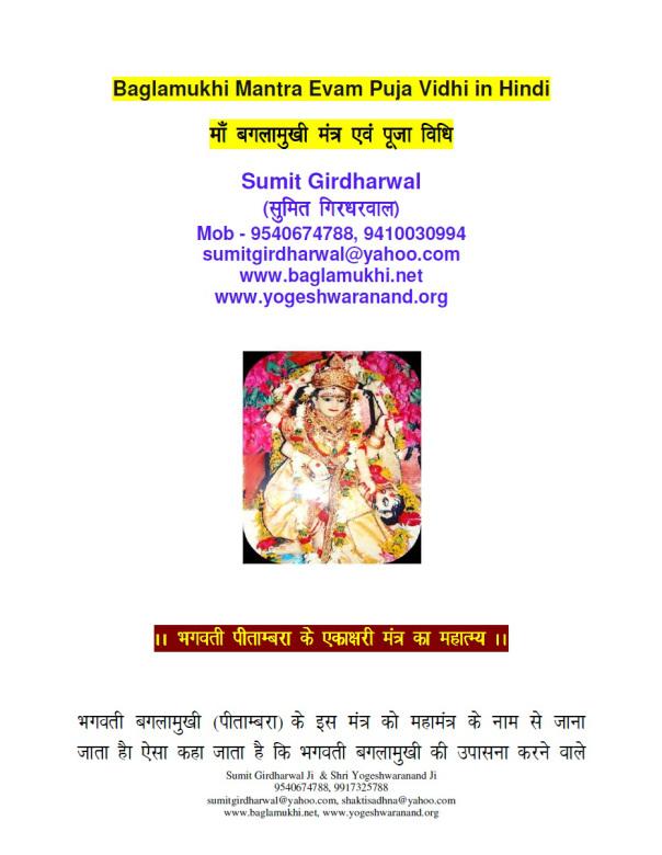 baglamukhi beej mantra in hindi बगलामुखी बीज मंत्र part 1