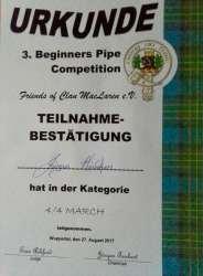 Erfolgreich an der Competition teilgenommen.