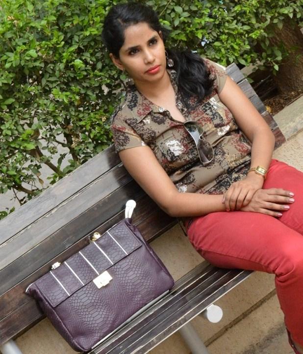Hidesign Work Bag Aubergine  Gina 01