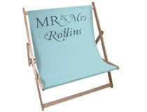 mr and mrs wedding gift deck chair