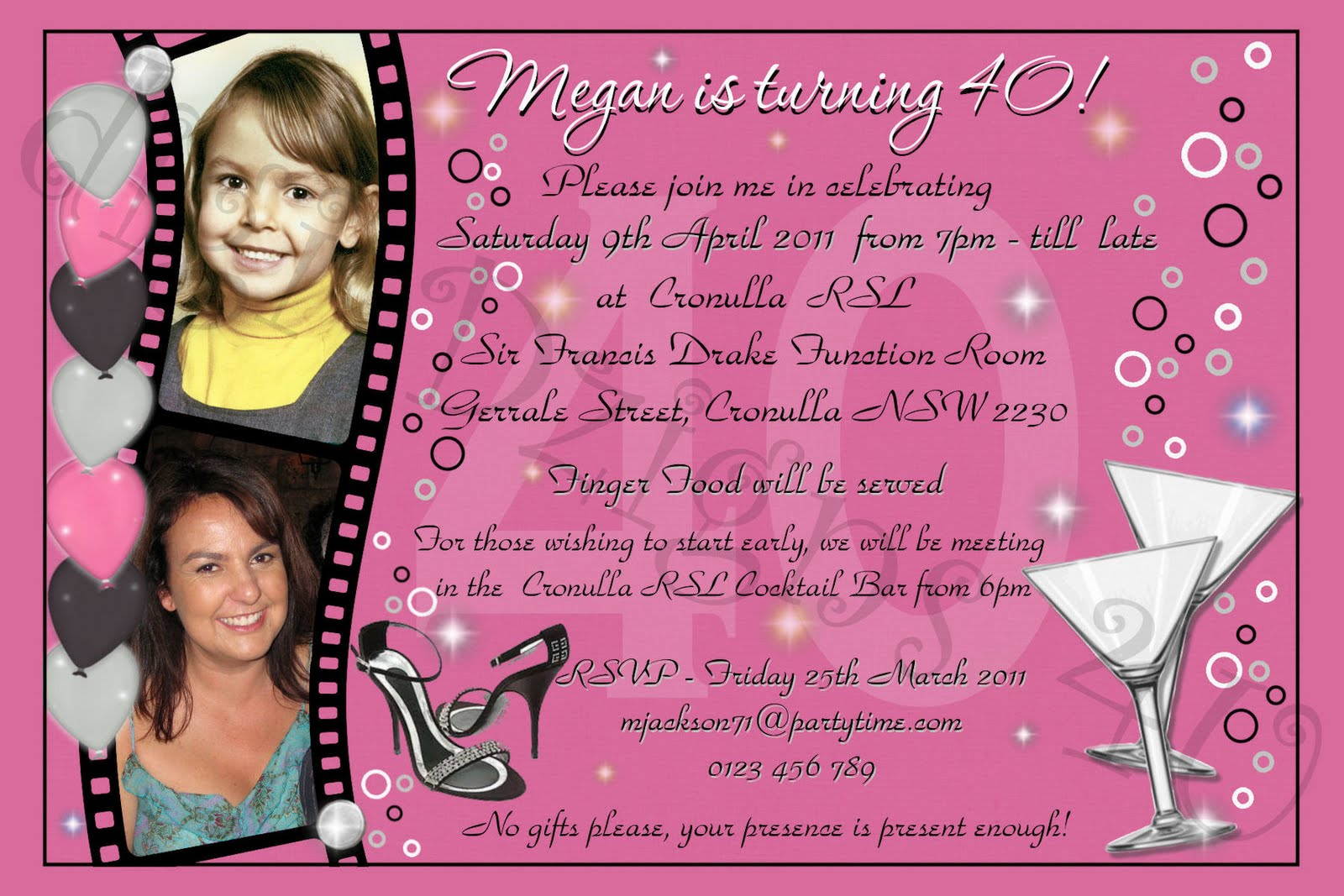 birthday invitation wording for adult