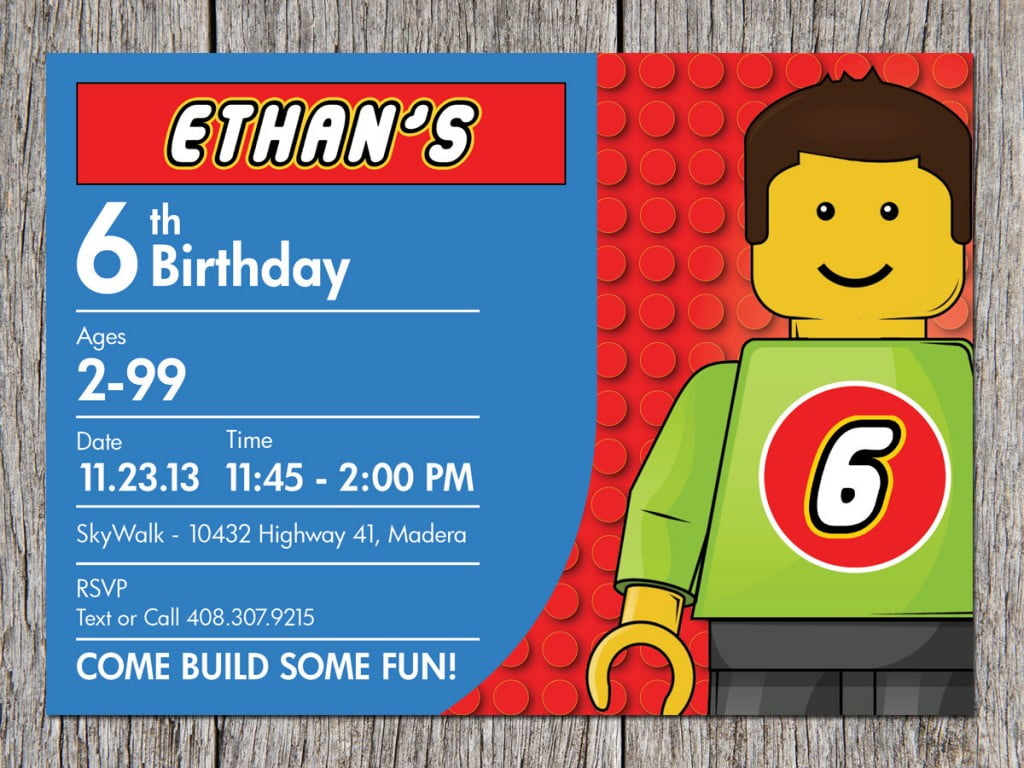 Lego Birthday Party Invitation Ideas Bagvania FREE