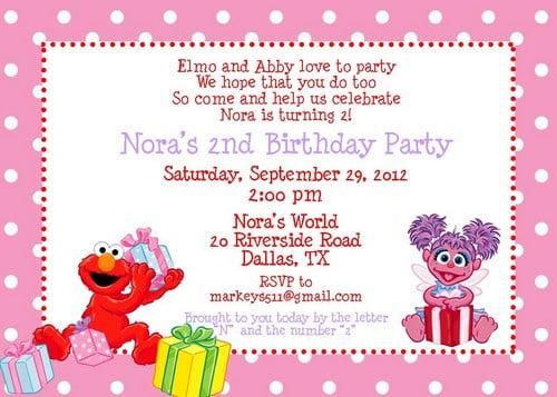 elmo birthday invitations free