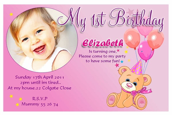 first birthday invitation wording