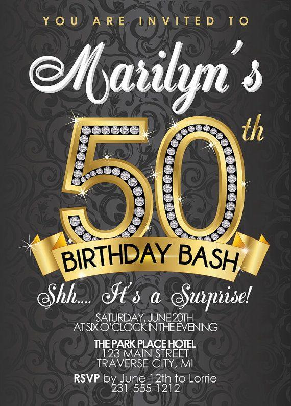 50th Birthday Invitation Wording Free Printable Birthday Invitation Templates Bagvania