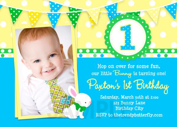 1st birthday invitation wording free