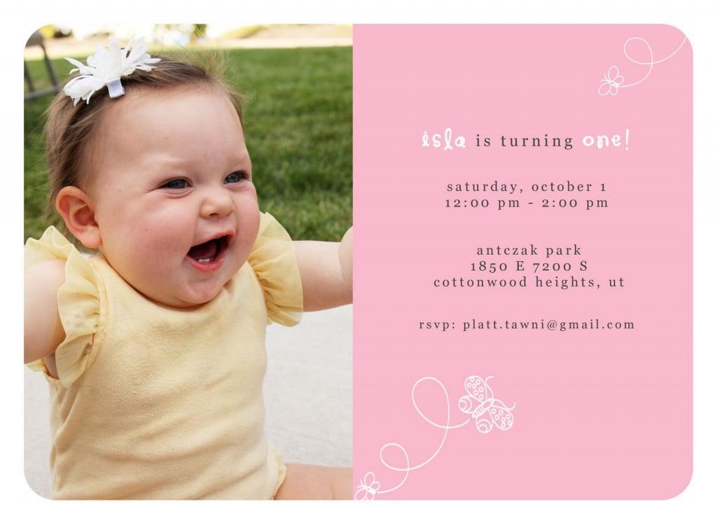 1st birthday invitations wording ideas