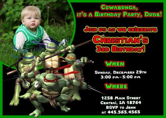 ninja turtle invitation templates free