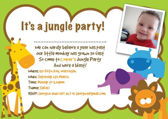 Jungle Birthday Invitations Free Printable Birthday Invitation Templates Bagvania