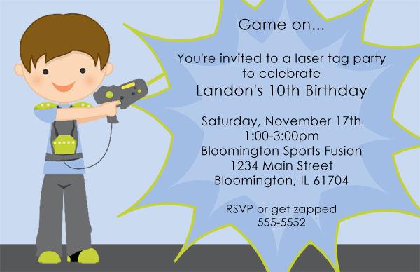 Laser Tag Birthday Invitations Ideas Free Bagvania