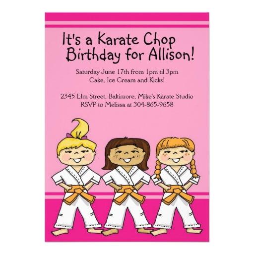 Finest Karate Birthday Party Invitations Free Cogimbous KZ03