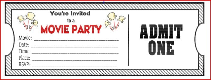 Party Ticket Template design 32 excellent design samples ticket – Ticket Format