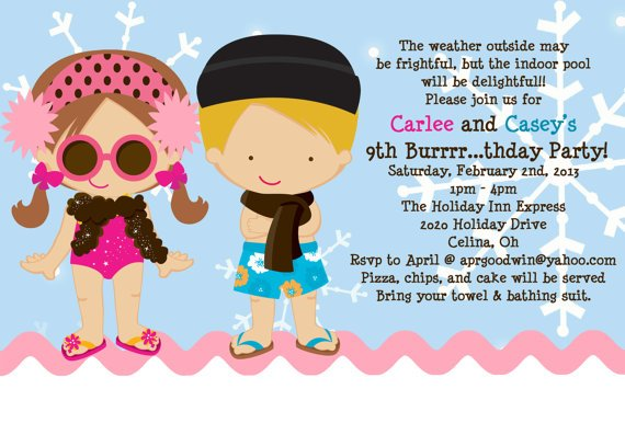 pool party birthday invitations free