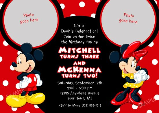 Red Minnie Mouse Birthday Invitations Ideas Free Printable Birthday Invitation Templates Bagvania