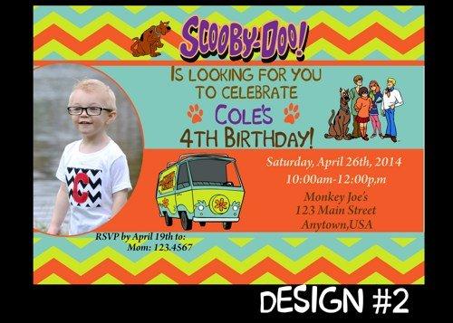 scooby doo birthday invitations free