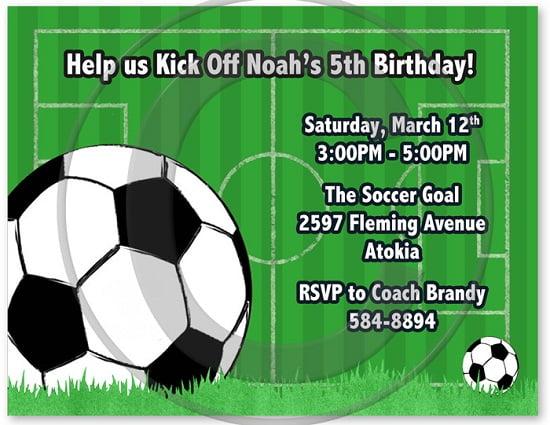 soccer birthday invitations free