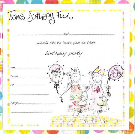 twin birthday invitations free