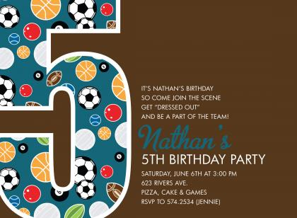 5th birthday invitation wording ideas