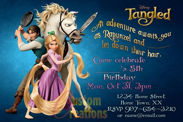 Rapunzel Birthday Party Invitation Ideas Bagvania FREE