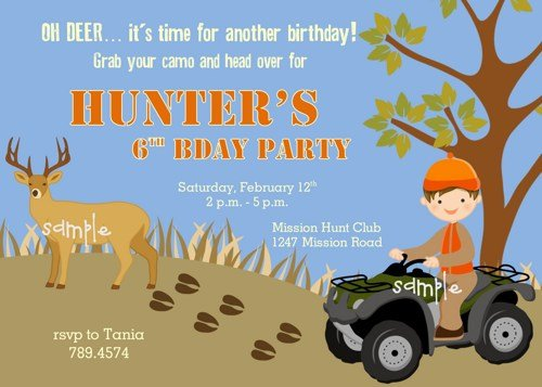free printable hunting birthday party invitations Cogimbous