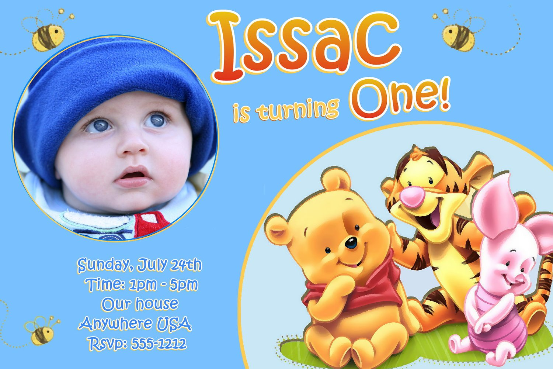 baby first birthday invitations free