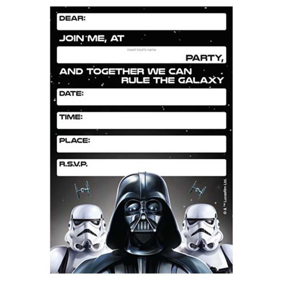 Lego Star Wars Birthday Invitations Template Free Printable Birthday Invitation Templates Bagvania