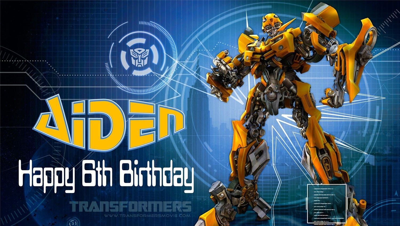 transformer birthday invitations free